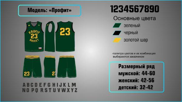 Заказ баскетбольной формы