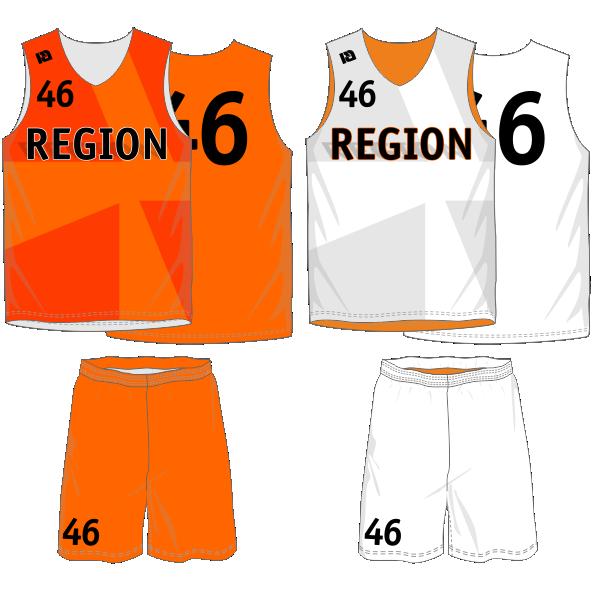 Двухсторонняя баскетбольная форма на заказ