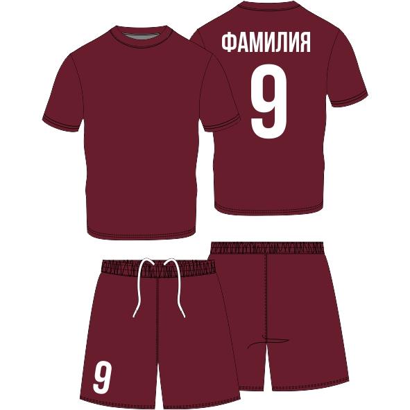 футбольная форма на заказ с нанесением имени