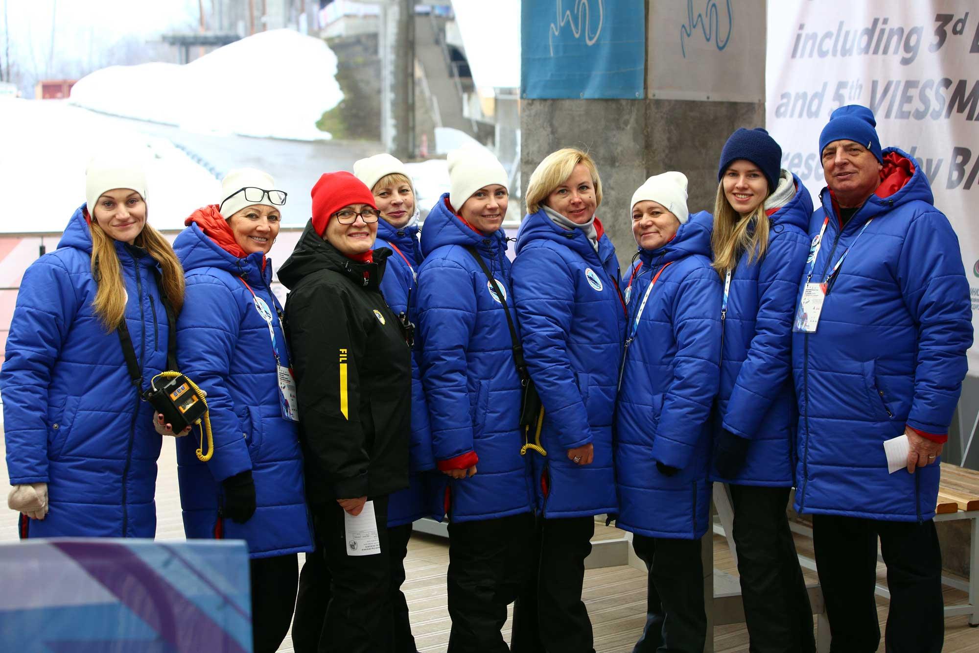 Зимние куртки для Федерации Санного Спорта России